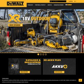 Elektrowerkzeuge – Industrielle Maschinen – Professionelle Werkzeuge von DEWALT
