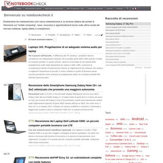 Recensioni e prove di notebook, tablets e smartphones - Notebookcheck.it