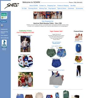 SOARK Running Clothes - American Flag Shorts