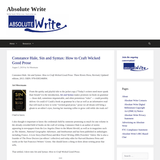 ArchiveBay.com - absolutewrite.com - Absolute Write - Write hard. Write true. And write on.