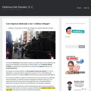 Defensa Del Deudor, S. C. – Ayudando a los deudores desde 2008