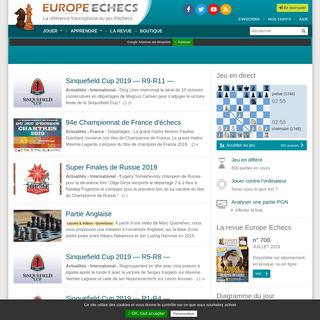 ArchiveBay.com - europe-echecs.com - Jouer aux échecs en direct et en différé, leçons et vidéos en ligne - Europe Echecs
