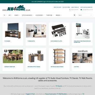 AV4Home - TV Stands, Cabinets & Brackets - HDMI Cables, Speaker Stands