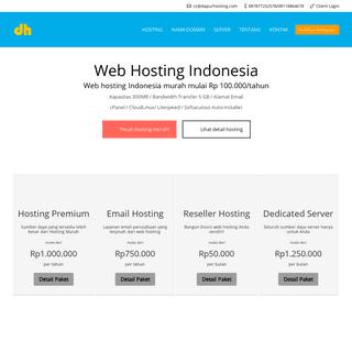 Web Hosting Indonesia Terbaik, Domain Murah, Email Hosting
