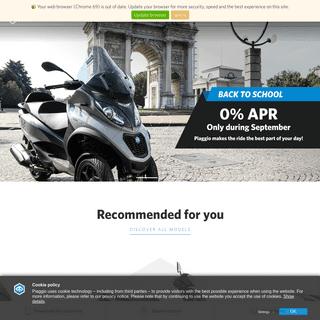 Piaggio- The Official Website - Piaggio.com