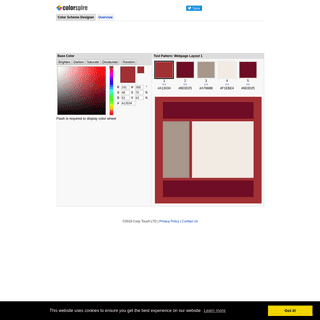 Create Color Schemes, Test Color Combinations - Colorspire