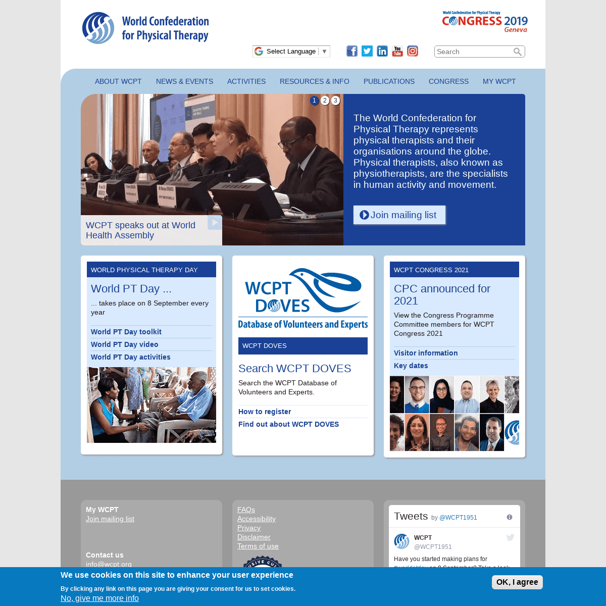ArchiveBay.com - wcpt.org - Home page - World Confederation for Physical Therapy