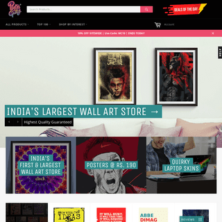 Buy Posters Online India - Posters & Art Prints - Movies Posters - Music Posters - TV Posters - Comics Posters - Gaming - Footba