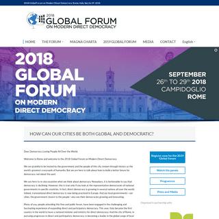 Global Forum 2018