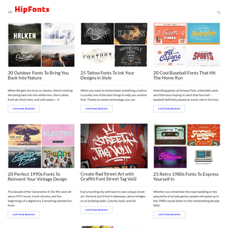 HipFonts - Typefaces Created by Independent Creatives.