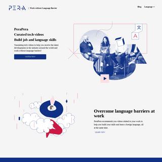 PeraPera - Work without Language Barrier