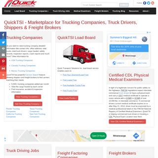 Trucking Companies - Truck Driving Jobs - Find Loads - Freight Brokers