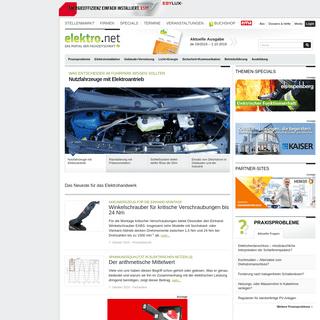 elektro.net - Das Portal der Fachzeitschrift de