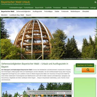 Ausflugsziele Bayerischer Wald Sehenswürdigkeiten in Bayern