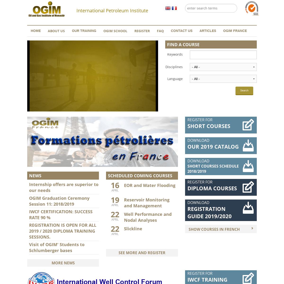 OGIM - Oil and Gas Institute of Monastir - International Petroleum Institute
