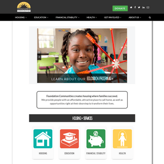 Foundation Communities - Creating housing where families succeed in Austin and North Texas.
