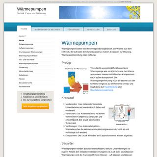 ArchiveBay.com - waermepumpen.info - Wärmepumpen - Technik, Preise und Förderung