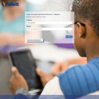 ArchiveBay.com - gofollett.com - Destiny Discover - Follett School Solutions - School Picker