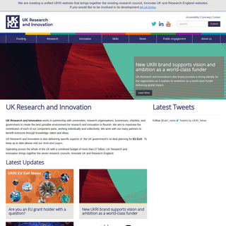 Home - UK Research and Innovation