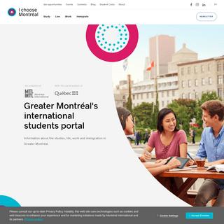 I choose Montréal - International Students Portal