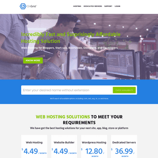 Web Hosting, Cloud and Dedicated Servers - OnGrid.io