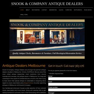 Antiques Melbourne - Antique Dealers Melbourne - Snook Antiques
