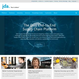Leading Supply Chain AI Platform - JDA Software