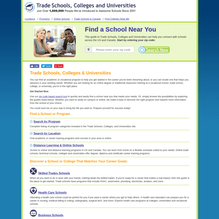 Trade Schools Guide - Find a College or Vocational School