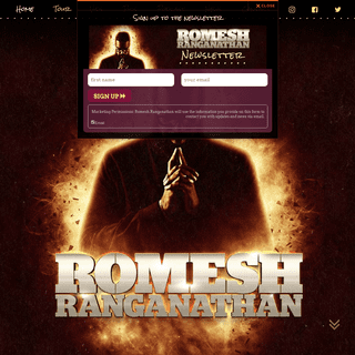 Romesh Ranganathan – Stand up comedian Official Website