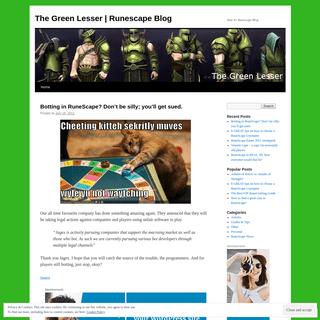 ArchiveBay.com - thegreenlesser.wordpress.com - The Green Lesser - Runescape Blog - Your #1 Runescape Blog
