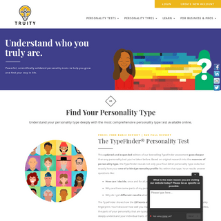 Scientific Personality & Career Tests Online - Truity