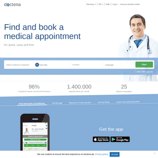 ArchiveBay.com - doctena.de - Doctena - book online with doctors, dentists or practitioners - Germany