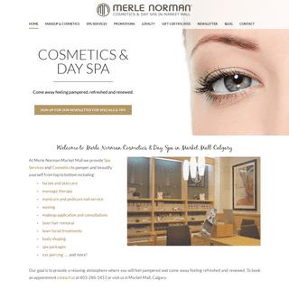 Merle Norman Market Mall - Calgary Day Spa & Merle Norman Cosmetics