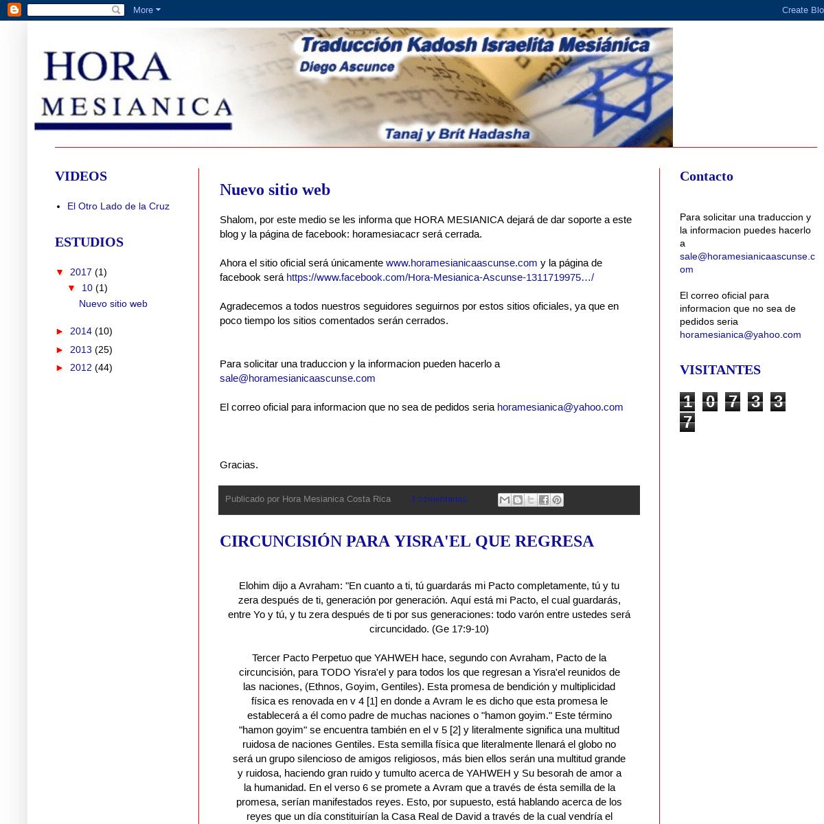 ArchiveBay.com - horamesianicacr.blogspot.com - Hora Mesianica