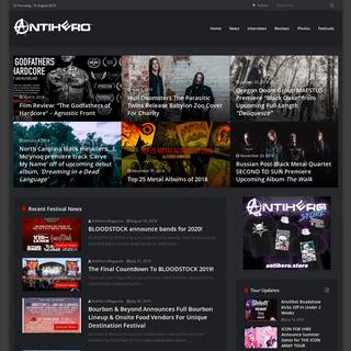 Heavy Metal News, Interviews, Reviews - Antihero Magazine