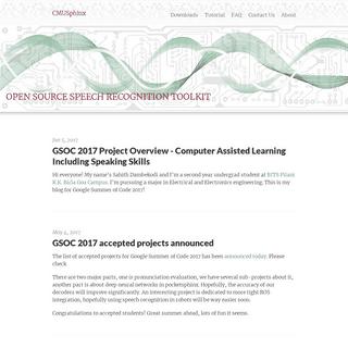 CMUSphinx Open Source Speech Recognition