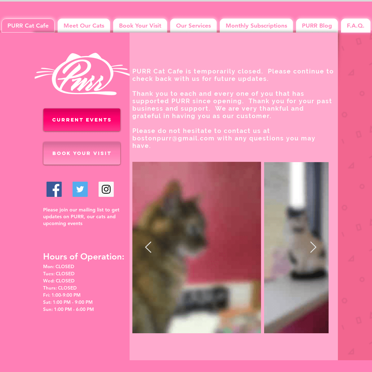 PURR Cat Cafe, Brighton & Boston purrcatcafe.com (Citation ...