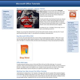Microsoft Office Tutorials