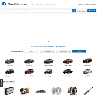 Shop Chrysler Jeep Dodge Ram Parts Online - MOPAR Parts Web Store
