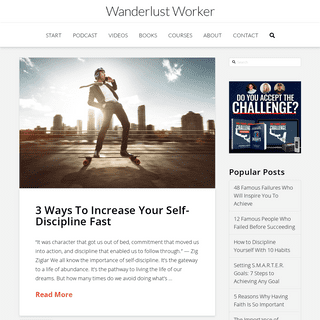 Wanderlust Worker - Improve your Life by Building Better Habits