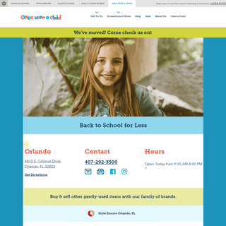 Buy & Sell Gently Used Children's Clothing in Orlando, FL - Once Upon A Child