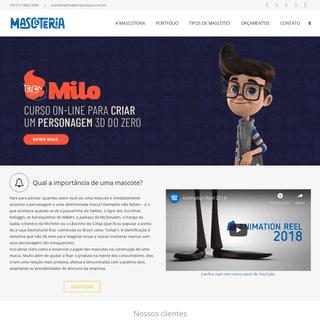 Mascoteria – Mascotes e Personagens 3D – Mascotes incríveis para sua marca, produto ou projeto.