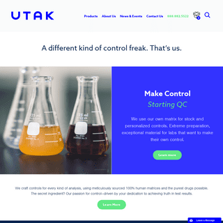 Toxicology Quality Controls - Control Freaks Welcome UTAK
