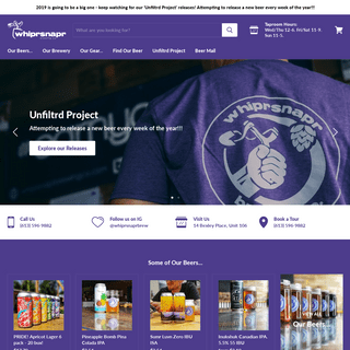 whiprsnapr brewing co. craft brewery in ottawa, ontario, canada. — Whiprsnapr Brewing Company