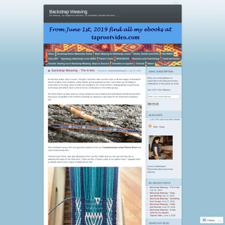 Backstrap Weaving - My weaving , my indigenous teachers, my inspiration, tutorials and more……..