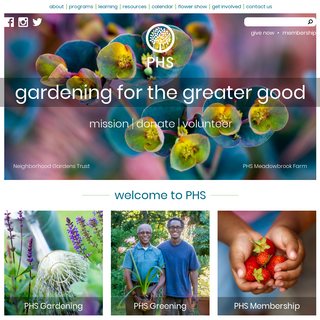 Home - Pennsylvania Horticultural Society