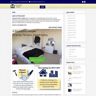 ArchiveBay.com - landmarklettings.co.uk - Leeds Lettings Agent - Landmark Homes Lettings Ltd