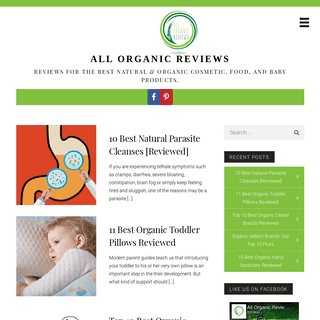 All Organic Reviews - Reviews for the best natural & organic cosmetic, food, and baby products.