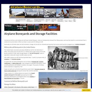 Airplane boneyards, Davis-Monthan AFB AMARG military aircraft boneyard, airliner boneyards, WWII airplane boneyards, maps, boney