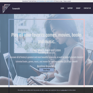funwraith - Unlimited Movies, Games, Music and E-books